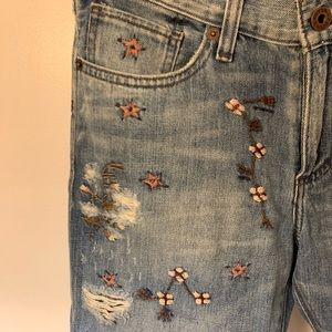 Embroidered Lucky Jeans